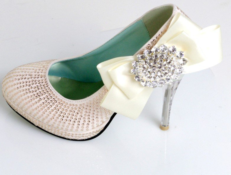 Hot Handmade Leatherette Upper Stiletto Heel Closed Toe With Rhinestone Wedding/ Party Shoes Pumps<br><br>Aliexpress