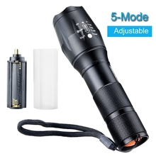 Best Pirce 3000 Lumens CREE XML T6 LED Flashlight Torch Lamp Zoomable Focus AAA/18650