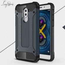 [Long Steven] For Huawei Honor 6X Case Unique Armor Anti-Knock Attached Dust Cap Cover For Huawei Honor6X Case Funda Honor 6 X