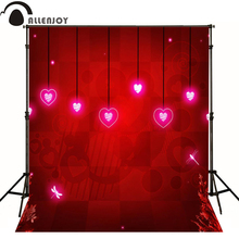 Allenjoy photographic background Love red romantic fashion photo backdrops for sale professional fabric Computer printing(China)