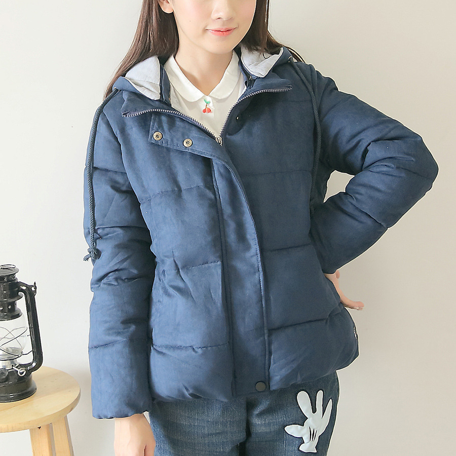 Mori Girl Medium-Long Thickening with A Hood Solid Color Block Decoration Cotton-Padded Jacket Wadded Jacket Winter WomensОдежда и ак�е��уары<br><br><br>Aliexpress