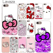 Lavaza Fashionable Hello Kitty Hard Phone Cover Case for Apple iPhone 10 X 8 7 6 6s Plus 5 5S SE 5C 4 4S Coque Shell