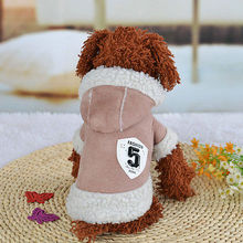 Fashion Pet Winter Cotton Coat Small Dog Warm Apparel Puppy Hoodie Jacket Cute Pink Dog Clothes(China)