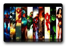 Custom Iron Man Doormat Flash Pad Spider-man Mat Superman Carpets DC Marvel Green Lantern Rugs Bathroom Bedroom Decor #D-174#