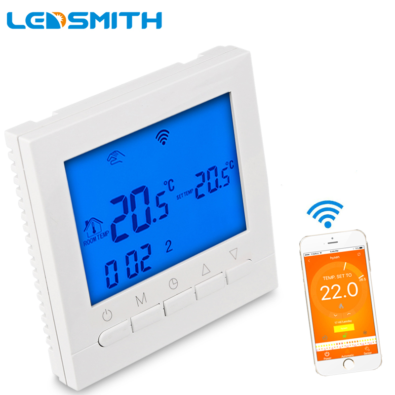 LEDSMITH HY02B05 Smart WIFI Gas Wall Heater LCD Touch Screen Thermostat Programmable Memory Temperature Correction Function<br>
