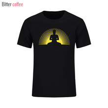 Summer Men O-neck Print Short sleeve Under Shirt Punk Buddha SUN printing T shirts Plus Size XS-XXL