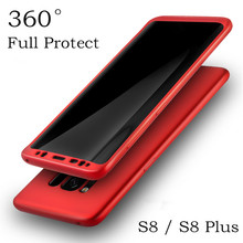 luxury 360 Degree soft tpu silicon cases for samsung galaxy s8 case s8 plus PC back cover thin shockproof Protective Shell