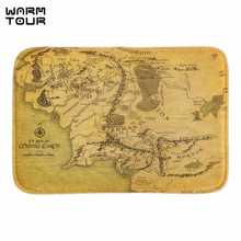 Buy WARM TOUR Map Middle Earth Home Decorative Doormats Soft Lightness Indoor Outdoor Bathroom Door Mats Fabric Floor Mats for $11.73 in AliExpress store