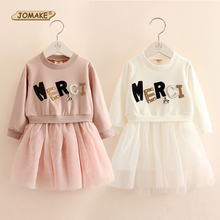 New Fashion Letter Pearls Designer Girls Dress Casual Style Patchwork Princess Dress Baby Girl Christmas Girls Costume For Kids