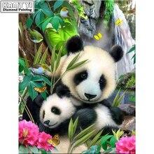 Животные материнская любовь мозаика ремесел DIY картина, вышитая бисером панда смолы Стразы полный квадратный Алмазная вышивка(China)