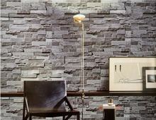 Modern Chinese 3D stereoscopic brick wallpaper pattern simulation brick tiles culture stone non woven roll wallpapers