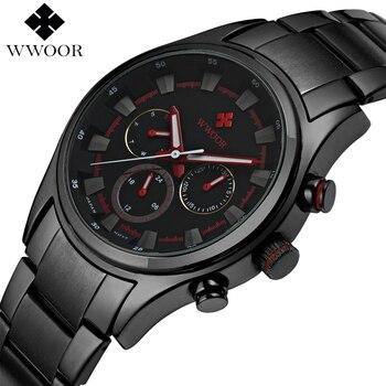 Marca de topo Homens de Luxo Esportes Relógios de Quartzo dos homens 24 Horas data Relógio Masculino Cinta de Aço Preto À Prova D' Água Militar Do Exército de Pulso relógio