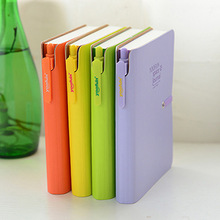 Candy Color Pure Colour Notebook 64K Portable Mini Notepad Creative Hardcover Thick Sketchbook Diary Book With Ballpen & Folder