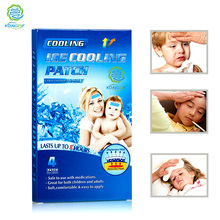 KONGDY Health Care Cooling Gel Patch for Adult and Children 8 Pieces=2 Boxes Medical Baby Fever Pad Herbal Pain Relief Patch(China)