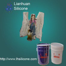 liquid silicon rubber for gypsum toys mold making