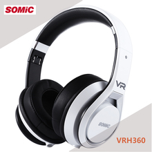 SOMIC VRH360 Anti-noise Colorful Light Stereo 3.5MM Plug Gaming Headphones Headset Foldable design Adopted with 4D(China)