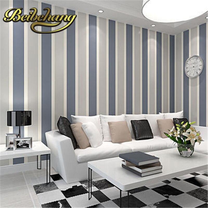beibehang Non-woven vertical stripes 3D mural modern minimalist living room TV backdrop papel de parede,3d wallpaper,wall paper<br>