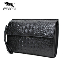CROSS OX 2016 Summer New Arrival Genuine Leather Men's Clutch Wallets For Men Wristlet Casual Bags For Men iPad Bag WL099M