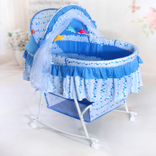 Baby bed with mosquito nets baby cradle crib multi-function cradle table rocking chair