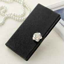 High Quality Case For Sony E5 Original Cell Phone Cover With Fashion Rhinestone Luxury Diamond Black E5 Free shipping