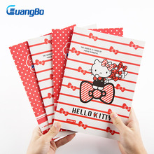 GUANGBO Stationery Notebook Notepad Plan Diary Day Planner Journal Record School Supplies Cute Hello Kitty Notes for Kid Student(China)