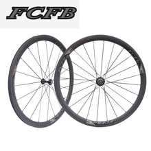 2017 FCFB road carbon wheels Ultra Light 700C 38mm Clincher Tubular Road Bike Carbon Wheels 23mm Width Bicycle Wheelset