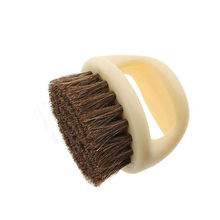 Portable New Natural Bristle Horse Hair Shoe Shine Polish Buffing Brush Plastic Brushes For Home Cleaning(China)