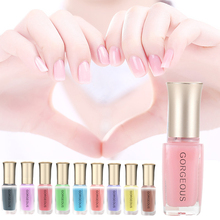 Fashion Spring Summer DIY Nail Art Pen Long Lasting Nudes Color Shining Semi Transparent Jelly Nail Polish Gel