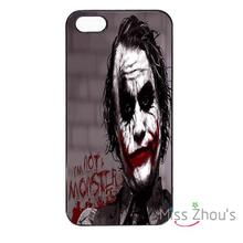 For iphone 4/4s 5/5s 5c SE 6/6s 7 plus ipod touch 4/5/6 back skins mobile cellphone cases cover The Scream Joker Batman Heat(China)