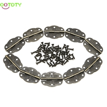 10x Door Butt Hinges Alloy Rotated From Antique Bronze 30mm x22mm 828 Promotion(China)
