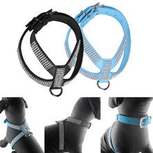 Soft Suede Fabric Fashion Bling Rhinestone Leather Dog Harness Leash for Small Dog Puppy Cat Rose Black Blue Pet Dog Products
