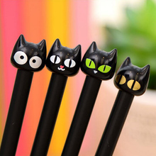 8pcs /set Cute Kawaii Lovely Cartoon Animal Black Cat Gel Pen 0.38 MM Rollerball Pen Novel Stationery For Students