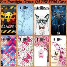 High Quality Fashion beautiful design DIY Painitng Colored Painted Cover For For Prestigio Grace Q5 5506 PSP5506 DUO Phone case