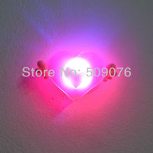 Free shipping 200pcs/lot 3pcs light  soft rubber LED flash badge Brooch  led brooch pin withAngel wings for kids party supplies