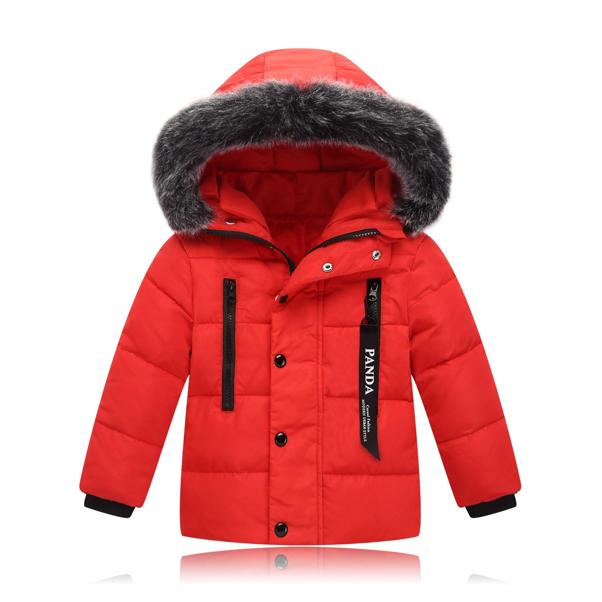 White Jacket Boys Duck Down Teenagers Winter Down Jacket Girls Thick Fur Collar Warm Korean Tide<br>