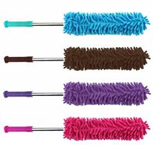 VODOOL Car Wash Cleaning Towel Brush Telescopic Microfiber Car Cleaning Duster Wash Wax Detailing Polish Brushes Random Color(China)