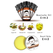 2Pcs Lanthome aftershave for men Beard Growth Oil plus beard care wax balm Organic Beard Conditioner Styling Moisturizing Effect(China)