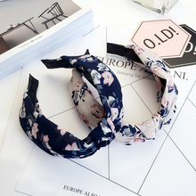 Floral Flower Headband Fabric Butterfly Bow Knot Head Band Rabbit Ears Headbands for Women Girls Hair Band Accessories(China)