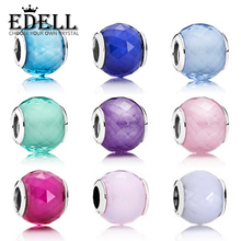 Buy EDELL Geometric Facets Solid color 925 Sterling Silver European Charm Murano Glass Beads Fit Europe Style Bracelet DIY Jewelry for $8.51 in AliExpress store