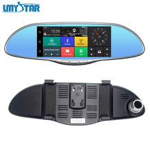 "LMYSTAR Car DVR Camera GPS 7"" Dual Lens Rearview Mirror Video Recorder WIFI Bluetooth HD 1080P Dash Cam Car DVR Mirror With Dual(China)"