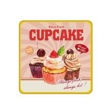 4pcs/set Various cupcake printed custom Home Table  Mat Bakery Creative Decor Wholesale Drink Placemat cork cup coaster
