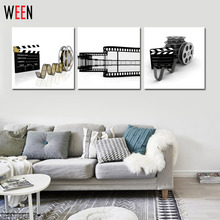 3 Piece Modern Cuadros Abstractos Wall Painting Movie Times Home Decoration Art Picture Paint On Canvas Prints For Living Room(China)