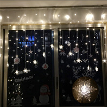 Multi color 4M 96SMD Snowflake LED ice bar lamp String Curtain Lights Holiday Xmas Wedding Decor