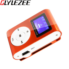 Glylezee Meatl Clip LCD Screen MP3 Music Player with 7 Colors Support 32GB Micro SD TF Card Slot