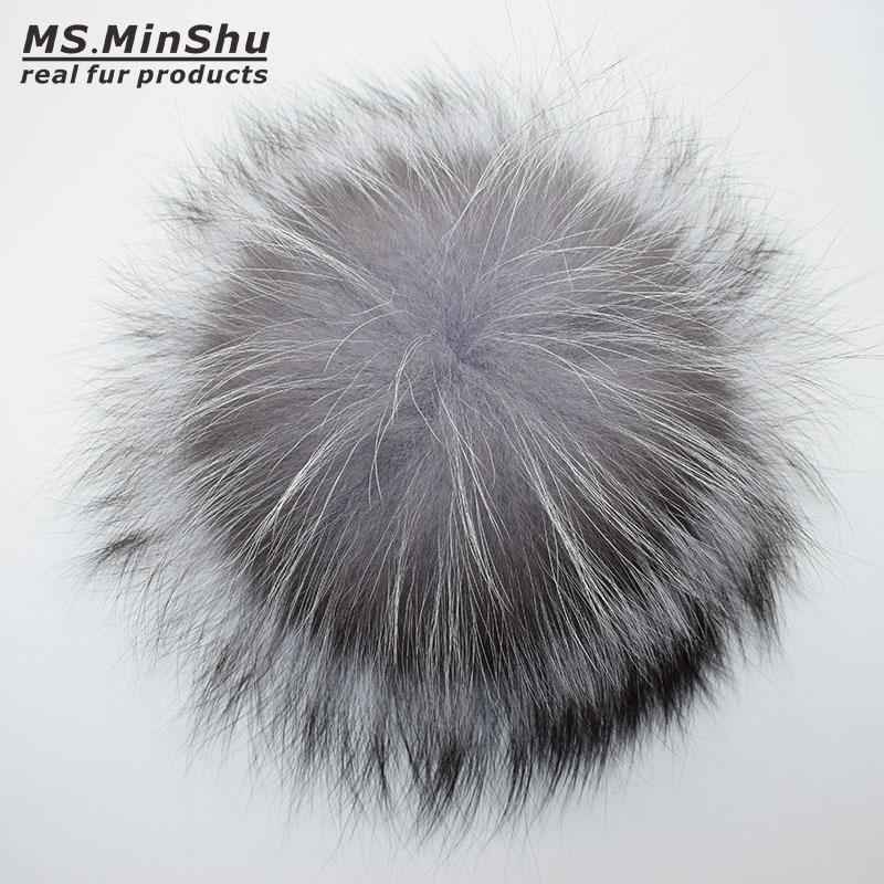 silver fox fur pompom