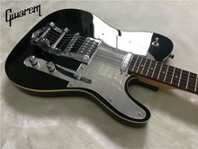 Electric guitar/2017 new Gwarem luck star tele guitar/black color with big-sby tremolo/guitar in china(China)