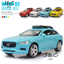 Hot 1:32 VOLVO XC Cars Metal Alloy Diecast Toy Car Model Miniature Scale Model Sound and Light Emulation Electric Car