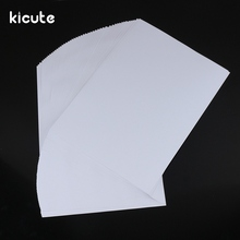 Kicute 50pcs Hot White Adhesive Printer Paper A4 Self Adhesive Glossy Paper Label Sticker for Laser and Inkjet Printers Supply