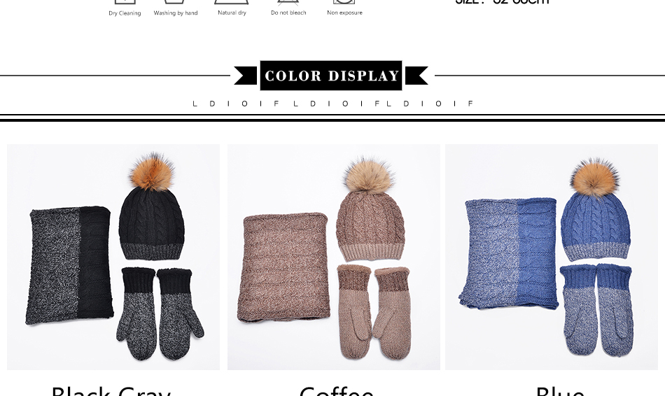 hat and scarf Glove Set TZ007 PC (3)
