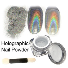 1g/Box Rainbow Holographic Pigment Shining Glitters Chrome Nail Powder 3D Colorful Nail Powder Manicure Tools(China)